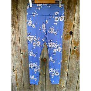 SPIRITUAL GANGSTER blue and white floral leggings